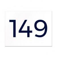 Hausnummer aus Aluverbund - viele Schriften und Farben