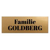 Briefkastenschlid goldfarben 100 x 35 mm - Serie SYMBOL