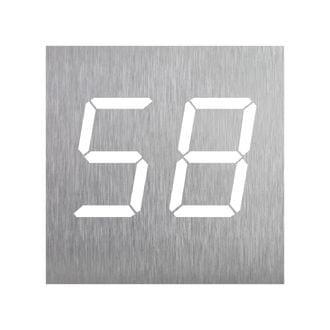 Edelstahlhausnummer- Design Clock