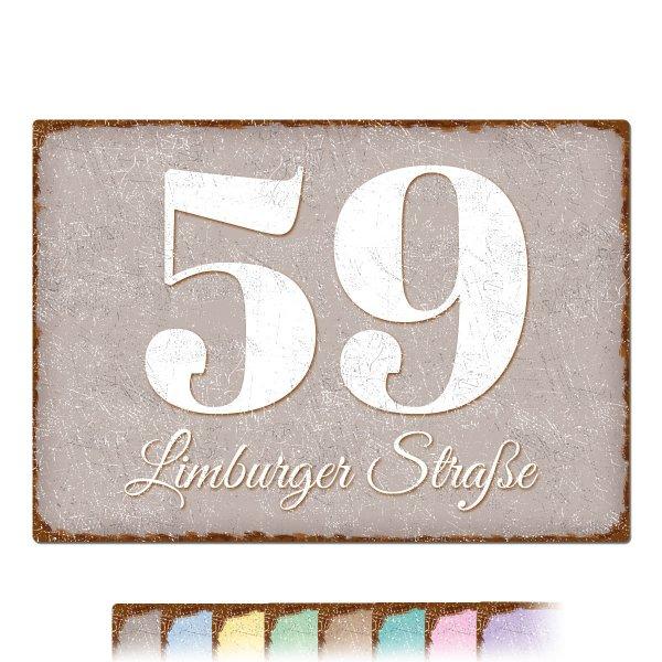 Hausnummer im Vintage Stil in vielen Farben