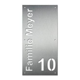Hausnummer aus Edelstahl - Design Rectangle