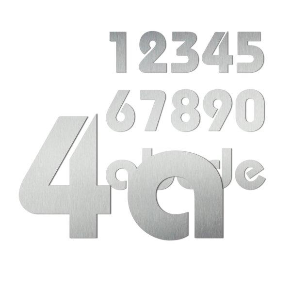 Hausnummern aus Edelstahl im Design Bauhaus