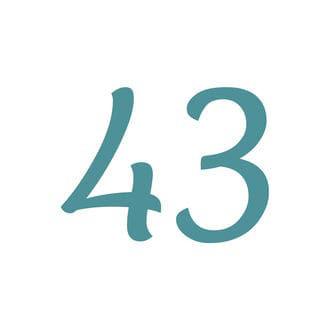 Zweistellige Hausnummer selbstklebend - viele Farben und Schriften zur Auswahl